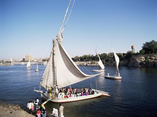 Feluccas on the River Nile, Aswan, Egypt, North Africa, Africa-Philip Craven-Photographic Print