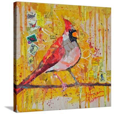 Femail Cardinal--Stretched Canvas Print