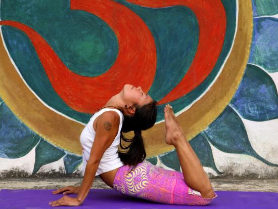 Female Astanga Yoga Practitioner in Backward Bending Posture-Christer Fredriksson-Photographic Print