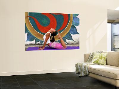 Female Astanga Yoga Practitioner in Backward Bending Posture-Christer Fredriksson-Wall Mural