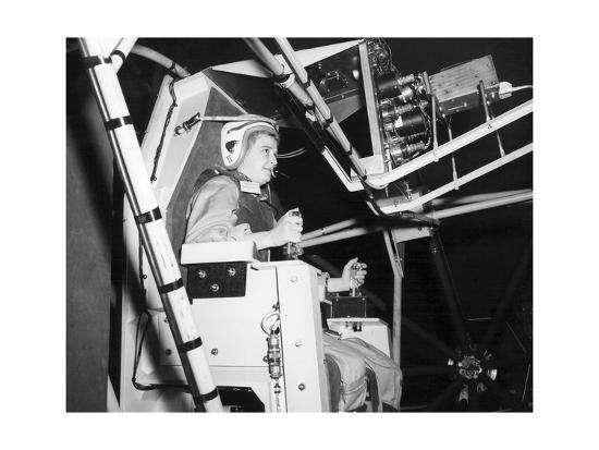 Female Astronaut Training--Giclee Print