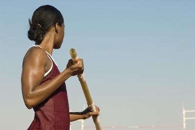 Female Athlete Preparing for Pole Jump-sirtravelalot-Photographic Print