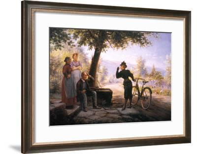 Female Bicyclist, 1892-Edward Lamson Henry-Framed Giclee Print
