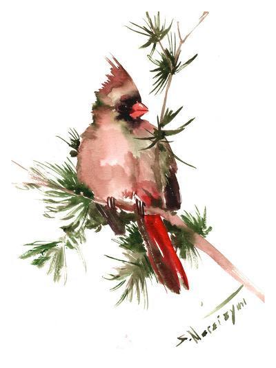 Female Cardinal-Suren Nersisyan-Art Print