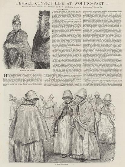 Female Convict Life at Woking-Charles Paul Renouard-Giclee Print