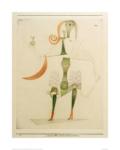 Female Costume Mask-Paul Klee-Giclee Print