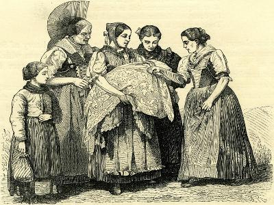 Female Costumes in Appenzell Switzerland--Giclee Print