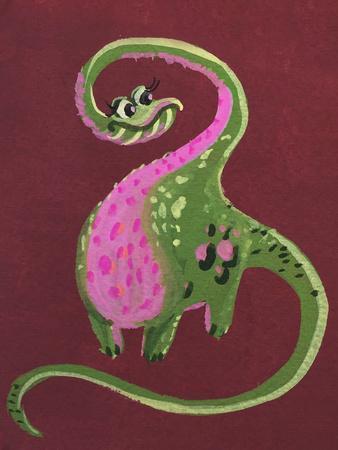 Female Dino-Cara Kozik-Art Print