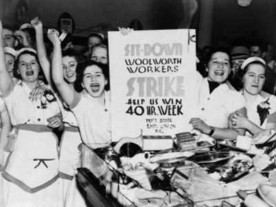 Female Employees of Woolworth Striking for a 40 Hour Week