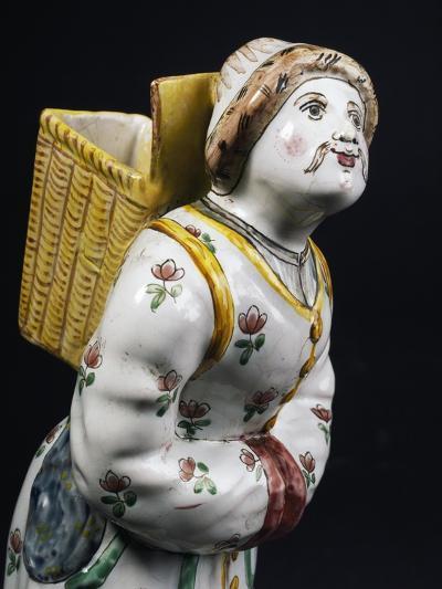 Female Figure Bearing a Basket on Her Back--Giclee Print