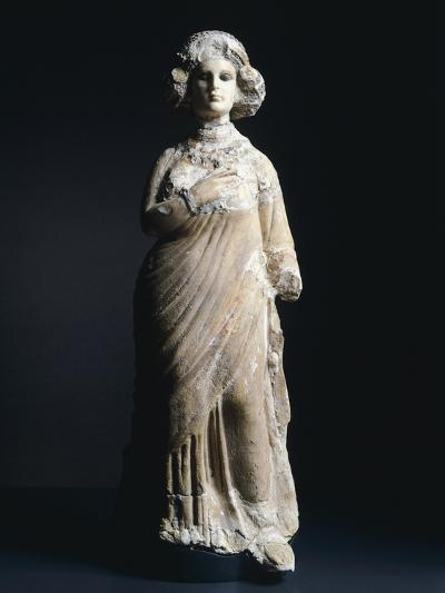 Female Figure in Limestone and Stucco Artefact from Seleucia, Iraq--Giclee Print