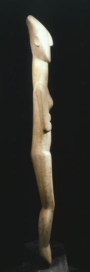 Female Figure Statue, Greece, Side View, Cycladic Civilization, 3500-1050 BC--Giclee Print