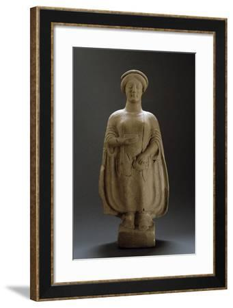 Female Figure, Terracotta Sculpture from Medma, Rosario, Calabria, Italy--Framed Giclee Print