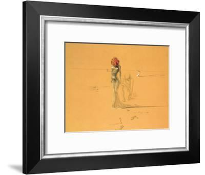 Female Figure with Head of Flowers, 1937-Salvador Dal?-Framed Art Print