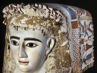 Female Funerary Mask, Painted Plaster, from Meir, Detail, Roman Empire 1st Century--Giclee Print