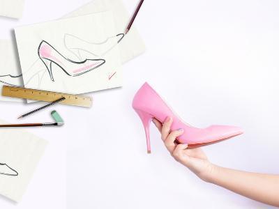 Female Hand Holding Shoe-Anna Ismagilova-Photographic Print