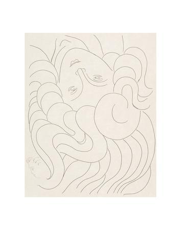 Female Head, 1930-32-Henri Matisse-Art Print