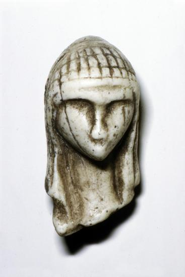 Female Head from Brassempovy, France, Upper Paleolithic, (c20th century)-Unknown-Giclee Print