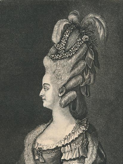 'Female Head-Gear: Marie Antoinette, 1783', (1886)-Unknown-Giclee Print