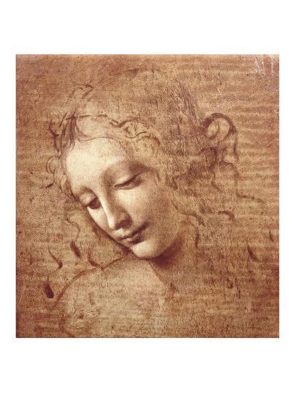 Female Head (La Scapigliata), c.1508-Leonardo da Vinci-Art Print