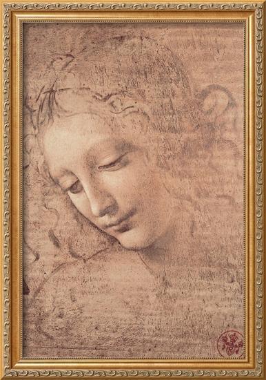 Female Head (La Scapigliata), c.1508-Leonardo da Vinci-Framed Giclee Print