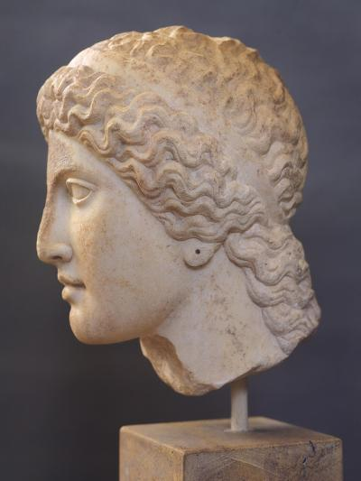 Female Head Sculpture, from Heraion of Argos, Greece,5th Century BC, Ancient Greece--Giclee Print