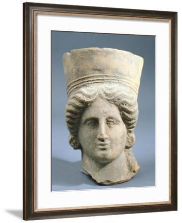 Female Head--Framed Giclee Print