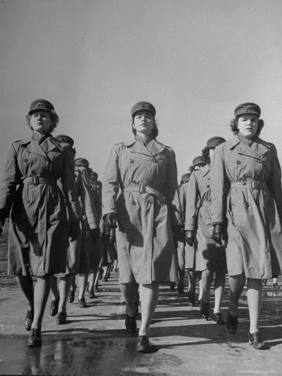 Female Marines on Parade During Basic Training at Air Base During WWII  Photographic Print by William C  Shrout | Art com