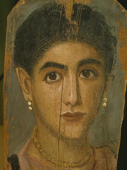 Female Mummy Portrait, from Thebes, 2nd Century-Roman Period Egyptian-Giclee Print