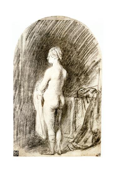 Female Nude, 17th Century-Rembrandt van Rijn-Giclee Print
