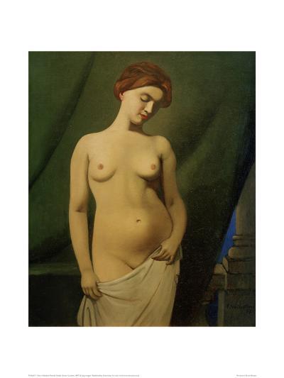 Female Nude, Green Curtain-F?lix Vallotton-Giclee Print