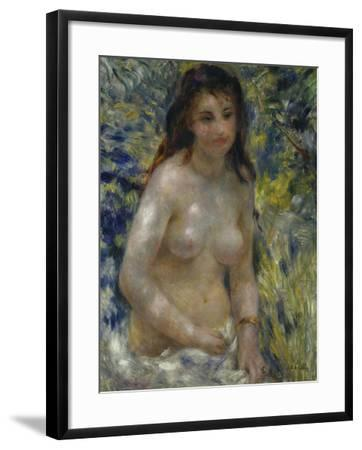 Female Nude in the Sun, c.1875-Pierre-Auguste Renoir-Framed Giclee Print