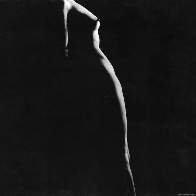 Female Nude Study-Gjon Mili-Photographic Print