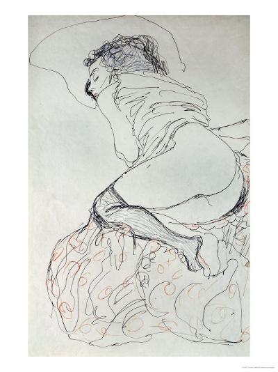 Female Nude, Turned to the Left, 1912-13-Gustav Klimt-Giclee Print