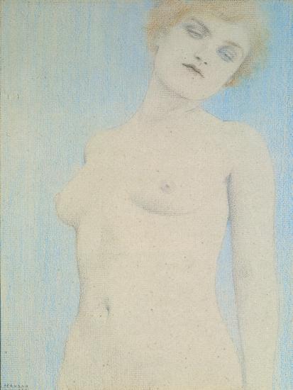 Female Nude-Fernand Khnopff-Giclee Print