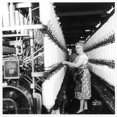 Female Operator, Howe Bridge, Lancashire-Henry Grant-Photographic Print