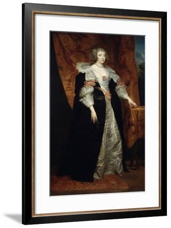Female Portrait, 17th Century-Sir Anthony Van Dyck-Framed Giclee Print