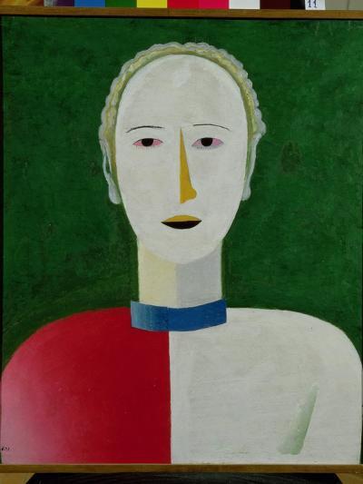 Female Portrait, 1928-32-Kasimir Malevich-Giclee Print