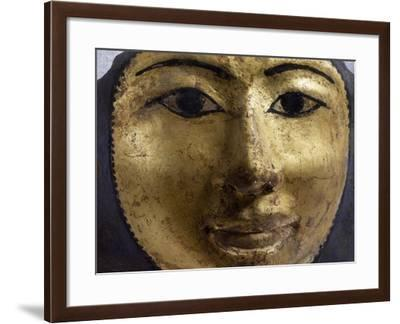 Female Sarcophagus Mask, Gilded Wood, Detail, Late Period--Framed Giclee Print