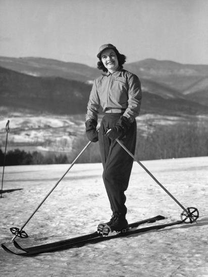 Female Skier-George Marks-Photographic Print