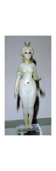 Female statuette, probably the Great Goddess of Babylon. Artist: Unknown-Unknown-Giclee Print