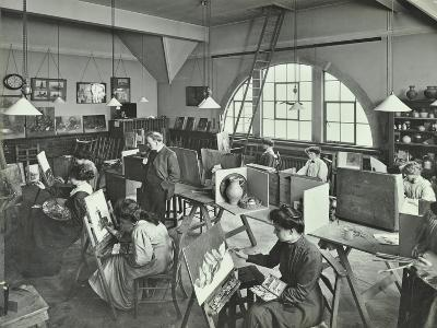 Female Students Painting Still Lifes, Hammersmith School of Arts and Crafts, London, 1910--Photographic Print