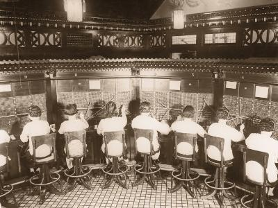 Female Switchboard Operators--Photographic Print