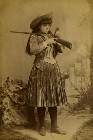 Female Wild West Sharpshooter With Rifle, 1889-J. Ulrich-Art Print