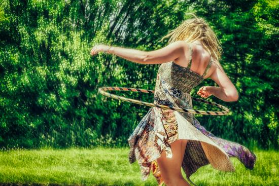 Female Youth Spinning Hoop-Stephen Arens-Photographic Print