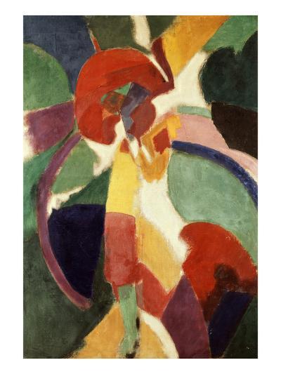 Femme À L'Ombrelle Ou La Parisienne (Woman with Umbrella or the Parisian Lady), 1913-Robert Delaunay-Giclee Print