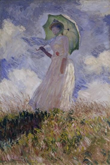 Femme A L Ombrelle Tournee Vers La Gauche Woman With Umbrella 1886 Giclee Print By Claude Monet Art Com
