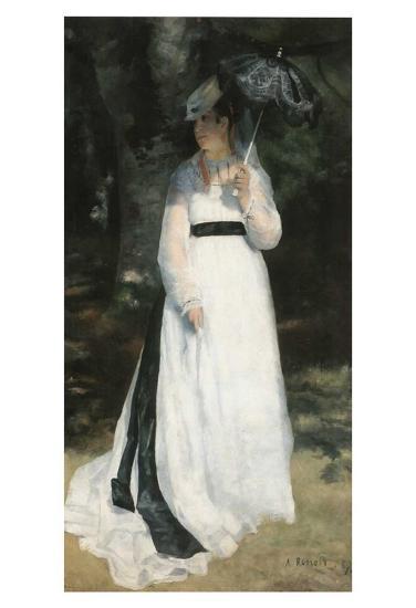 Femme à l'ombrelle-Pierre-Auguste Renoir-Art Print