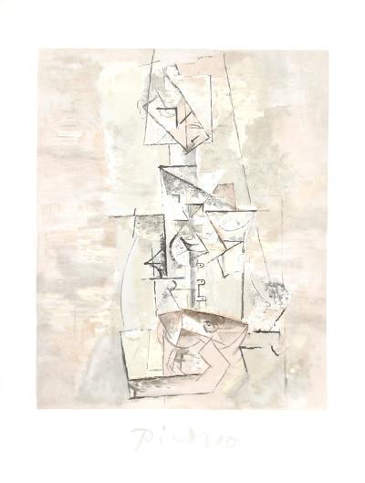 Femme a la Mandoline (Madmoiselle Leonie assie)-Pablo Picasso-Collectable Print