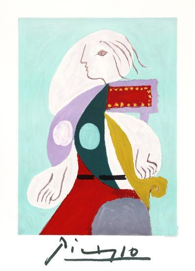 Femme a la Robe Multicolore-Pablo Picasso-Collectable Print